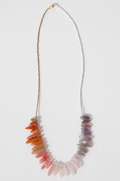 Gradient Stone Necklace by GROWING