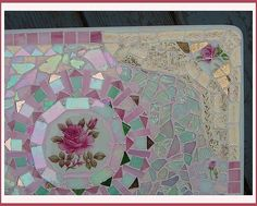 Mosaic Half TableTop Right Closeup ~by Sondra, Traders of the Lost Art 1