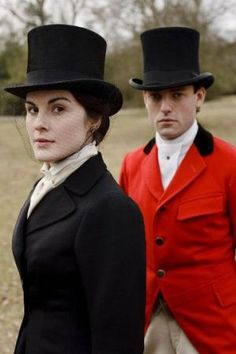 Downton Abbey _Michelle in riding gear as Lady Mary Crawley -    One of the reasons it would be fun to learn to ride aside.