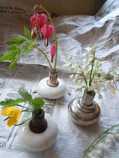 old doorknobs into vases