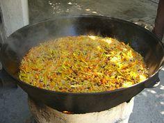 #Simmering Plov (Rice Dish) - Tashkent, Uzbekistan