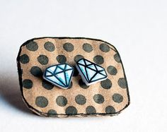 shrink plastic, diamond earrings