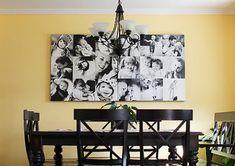 how to create a wall o' canvas | the creative mama