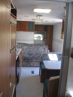 Inside of my trailer.