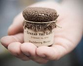 Custom Wedding Favor, Rustic Jam Jars