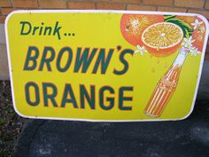 Browns Orange Soda bottled in Gravenhurst and Cobalt Ontario in the days prior to Coca-Cola taking over all the small bottling plants