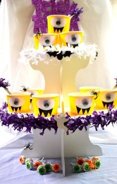 Cupcake Stand Ideas - Monster Cupcake Stand