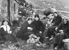 Islanders of St. Kilda, Scotland.