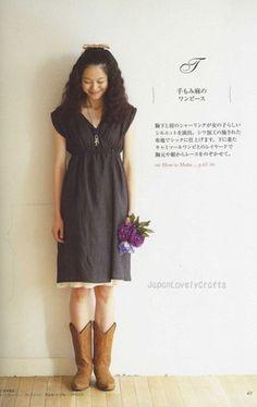 Simple Tunic & One-Piece Dress by Yuko Ichikawa - Japanese Sewing Pattern Book via Etsy.