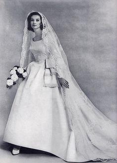 1963 wedding gown.