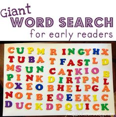 Giant Word Search for Early Readers
