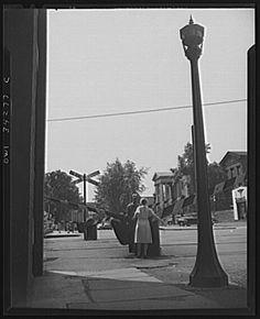 Woman railroad crossing guard, 1943.