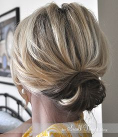 How to - simple updo. Good for nice events, but not too fancy
