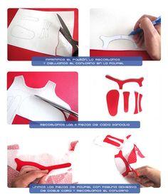 sandalias bebe DIY 3 Cómo hacer unas sandalias de bebé   DIY