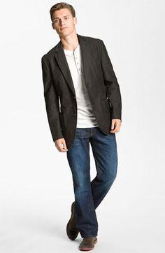 Kroon Blazer & Lucky Brand Straight Leg Jeans | Nordstrom