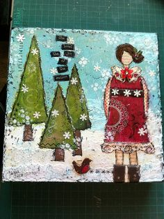 Love the Christmas/winter theme she-art.  Very pretty.