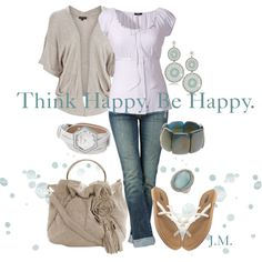 happy thoughts, purs, cloth, creat, happi thought, casual outfits, polyvore, spring outfits, jenniemitchel