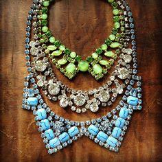3 vintage rhinestone necklaces...