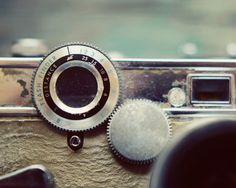 Close-Up Vintage Camera Photo Art