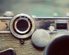 Close-Up Vintage Camera Photo Art