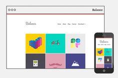 Balance - Responsive WordPress Theme ~ WordPress Themes on Creative Market - free good of the week!