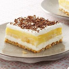 Banana Pudding Squares Recipe from our friends at Philadelphia Cream Cheese