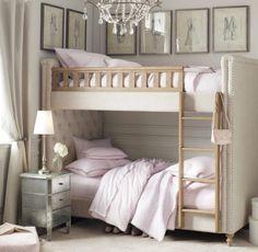 I love the pics lining the walls of top bunk. G's big girl top favorite idea.