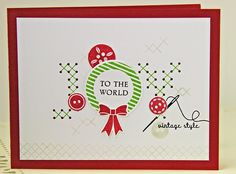 Joy To The World Card by Erin Lincoln for Papertrey Ink (October 2014)