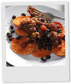 Vegan Redhead A Running: Roasted Sweet Potato with Black Beans and Salsa - quick and easy vegan meal!