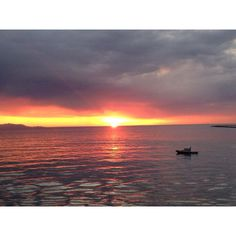 LA Harbor at sunset.