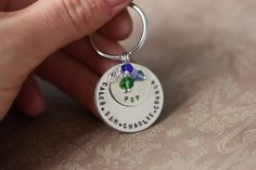 Keychain for Grandma  Stacked Names  Layered by DistinctlyIvy, $17.98