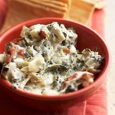 Spinach-Artichoke Dip with Bleu Cheese and Bacon