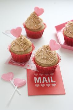 Valentine's Sucker Cupcake Toppers