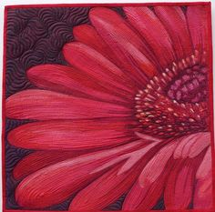 Gerbera by Sonya Prchal | Aotearoa Quilters (New Zealand).  Posted at Craft Fair