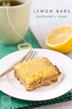When life gives you lemons, make #Gluten-Free #Vegan Lemon Bars.