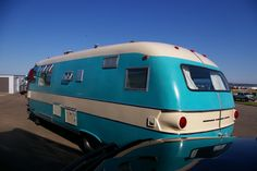 """Ms Capri's """"Myrtle the Turtle,"""" 1964, Dodge Travco Motor Home back view"""