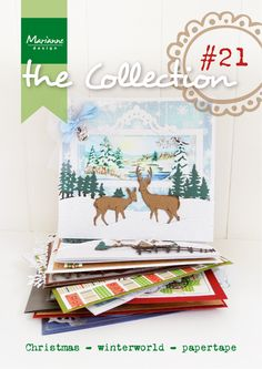 Collection #21 with many examples made with the September 2014 collection from Marianne Design