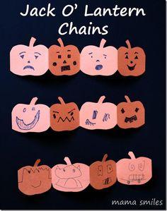 Pumpkin Jack O' Lantern Chains: Halloween Fun and Emotional Intelligence
