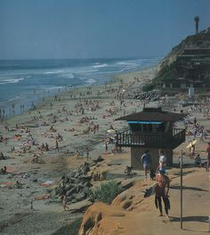 Moonlight Beach at Encinitas, California.