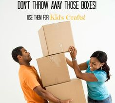 Got some boxes left over from birthdays or Christmas? Use them to make these FUN crafts and toys!