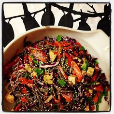 Crazy Sexy Kitchen's Asian Noodles with Black Vinagrette #vegan #recipes #kriscarr #CrazySexyKitchen