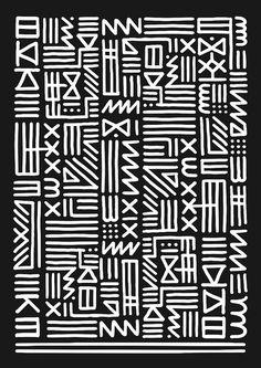 kate moross, graphic, monochrome, patterns, pattern design, art, inspir, tribal prints, monochrom tribal