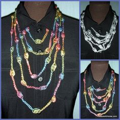 This simple and elegant necklace works up quickly using chain sts, puff sts, and a few slip sts. It is reminiscent of a layered chain and be...