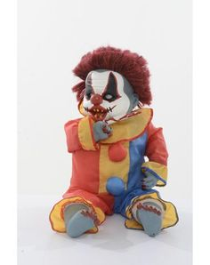 Ouchy the Clown new for 2013 at Spirit Halloween - After being abandoned by the circus, Ouchy the Clown found refuge here at Spirit Halloween where he learned a few tricks while he waits for his new home.  Adopt Ouchy for only $44.99 and find out what kind of tricks he has up his sleeves!