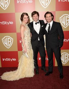 "Actors Katie Aselton and Mark Duplass, center, of ""The League"" and Edgar Ramirez from ""Zero Dark Thirty."""