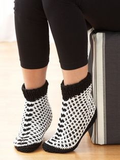 Tweed Slippers
