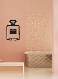 Chanel No. 5 Parfum Bottle Iconic Coco Chanel Wall Sticker Decal. $29.99, via Etsy.