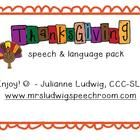 Free!! Thanksgiving Speech & Language packet...43 pages! Pronouns, category sort & more!  - repinned by @PediaStaff – Please Visit ht.ly/63sNtfor all our ped therapy, school psych, school nursing & special ed pin