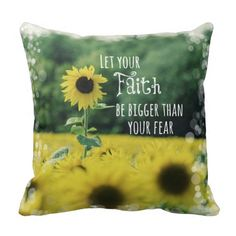 Inspirational: Let Your Faith Be Bigger Than Fear Pillow #faith #pillows