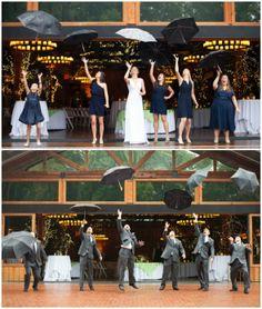 Rainy Wedding Day | Umbrella Toss